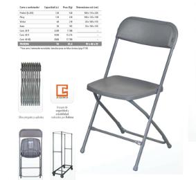 sillas plegables para ayundamientos