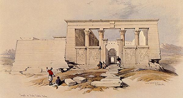 Dibujo de David Roberts del templo de Debod