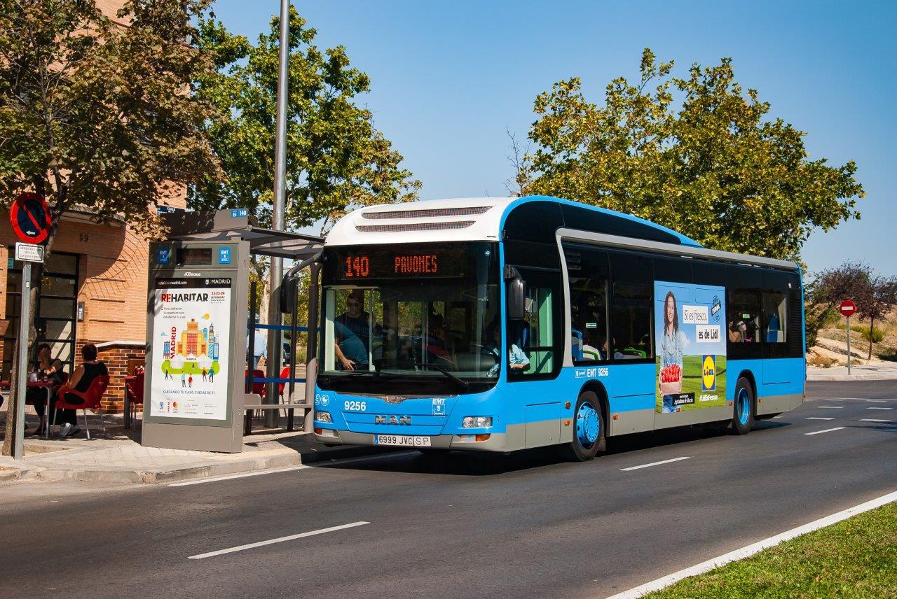 Los autobuses híbridos llegan a la línea de autobús 140 (Pavones ...
