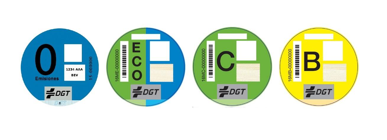 Distintivos ambientales DGT