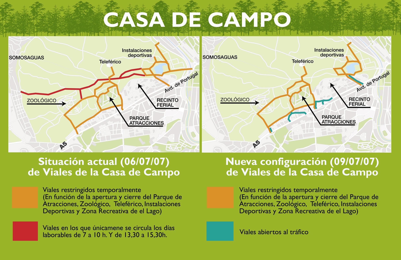 Ltimo d a de tr fico en la casa de campo ayuntamiento - Mapa de la casa de campo ...