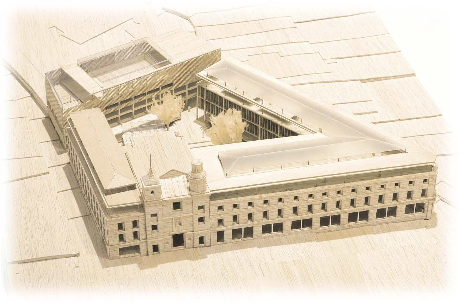La ciudad y el colegio de arquitectos devuelven las for Restaurante escuela de arquitectos madrid