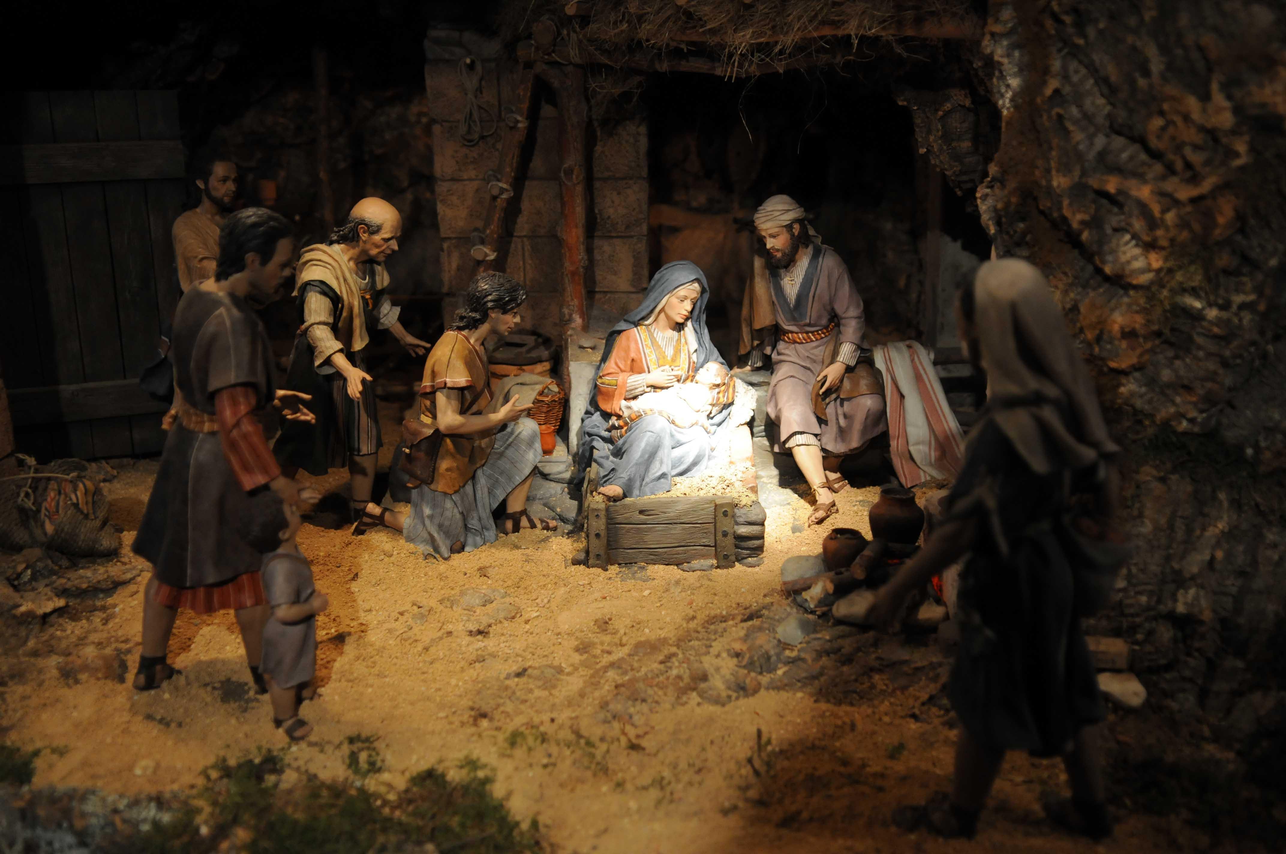 El bel n se mont en cibeles ayuntamiento de madrid for Nacimiento belen