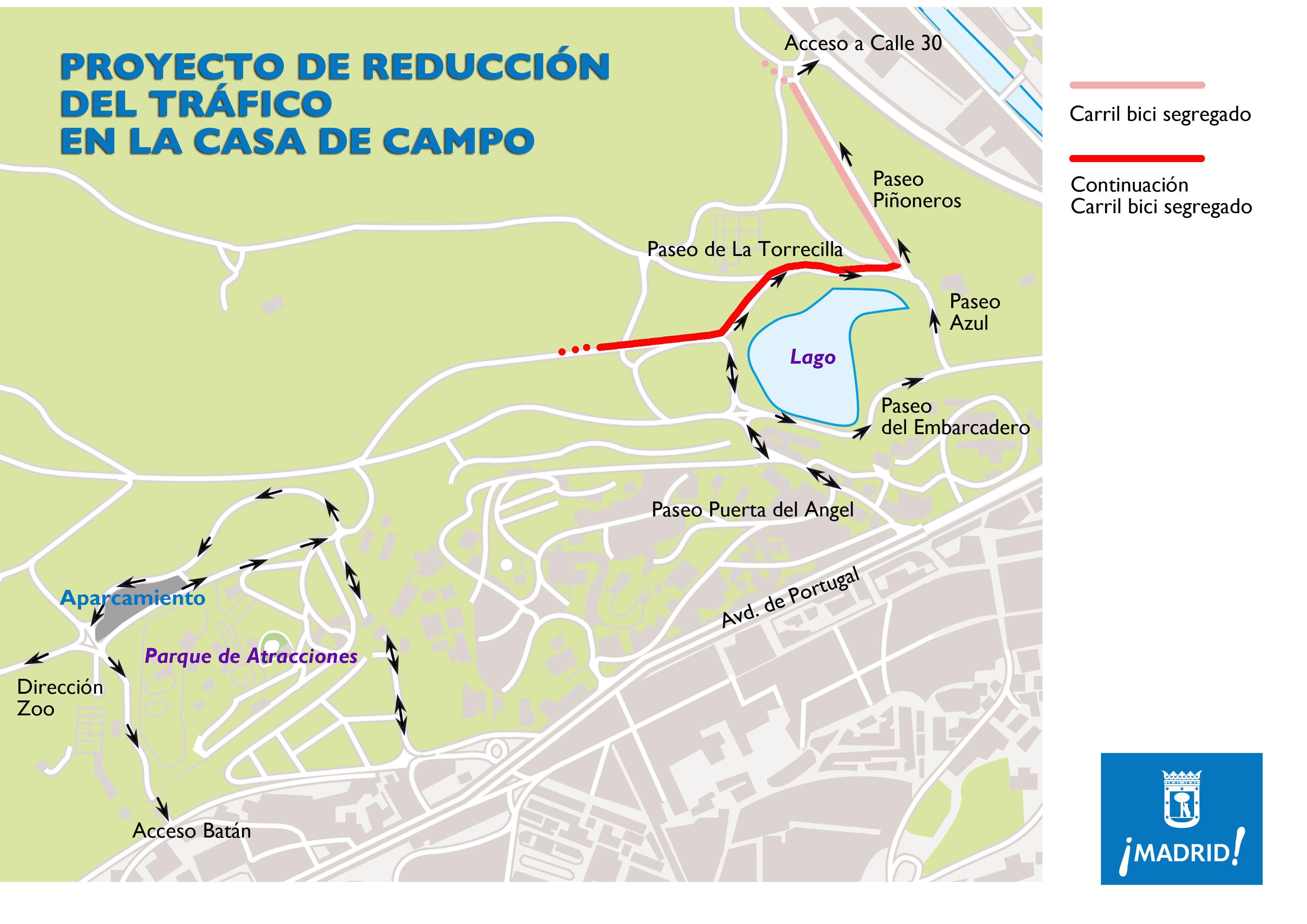 Nuevos itinerarios en casa de campo ayuntamiento de madrid - Mapa de la casa de campo ...