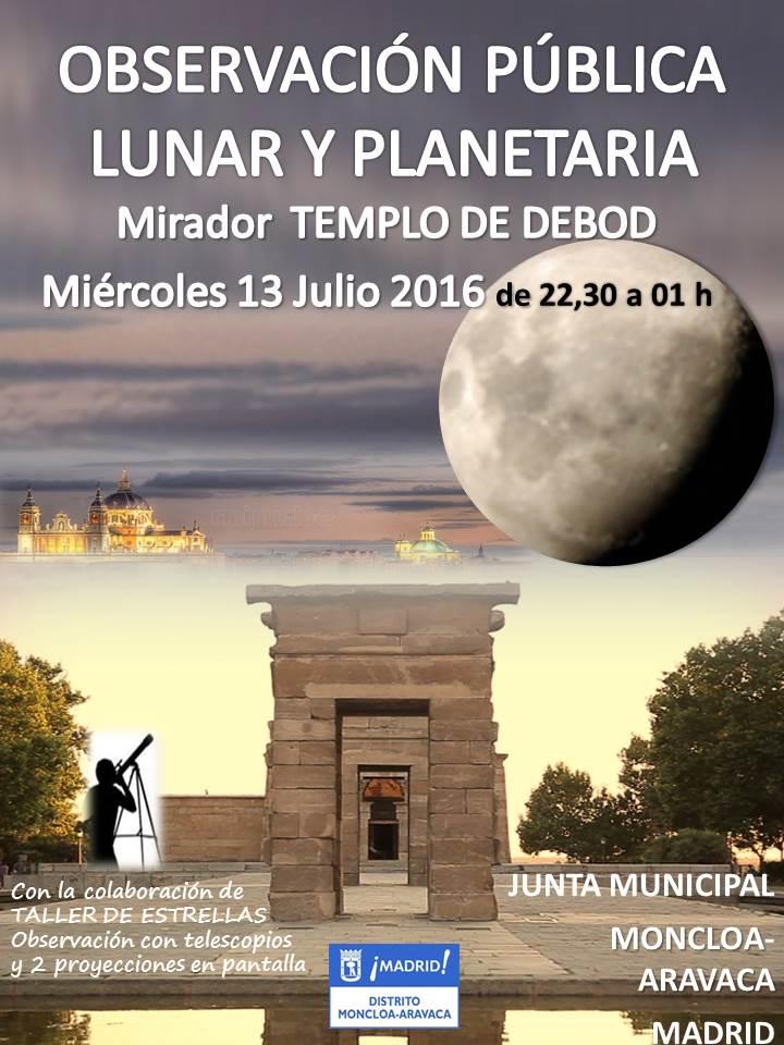 Observaci n lunar y planetaria en el mirador del templo de for Cambio lunar julio 2016