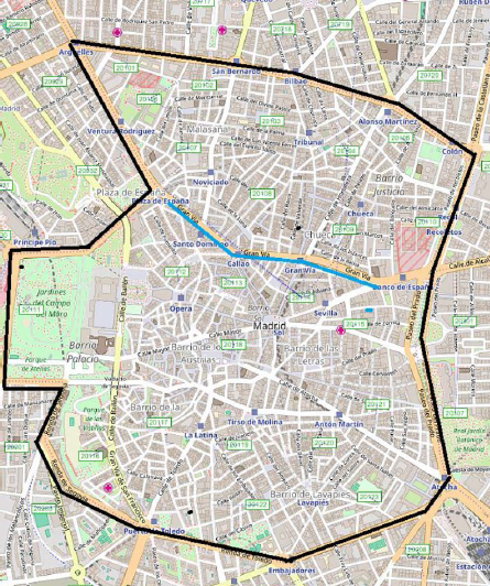 Restricciones Tráfico Madrid Mapa.Mas Espacio Para Los Peatones En El Centro Esta Navidad