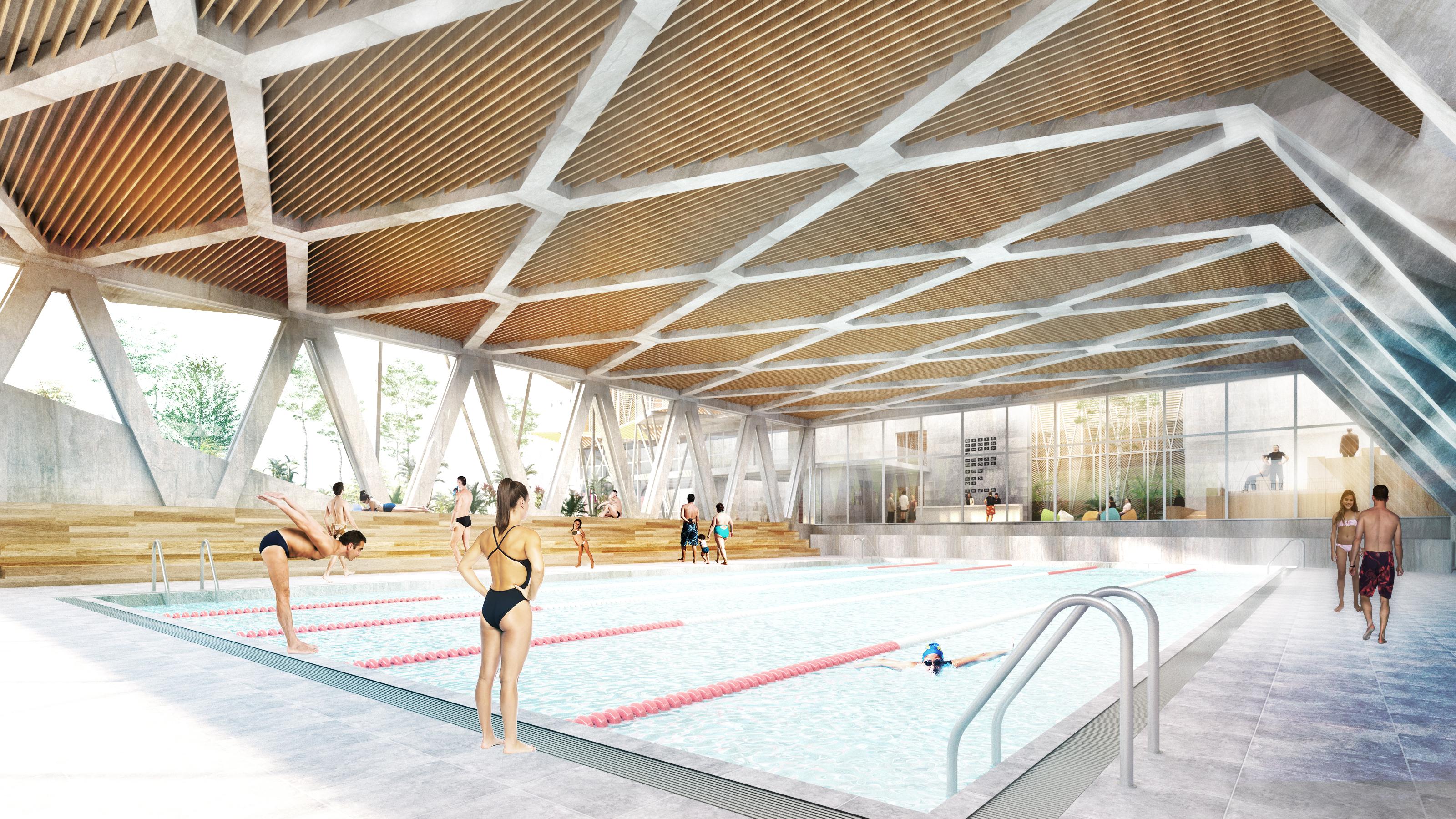 La cebada recupera su polideportivo y el espacio p blico for Gimnasios madrid con piscina