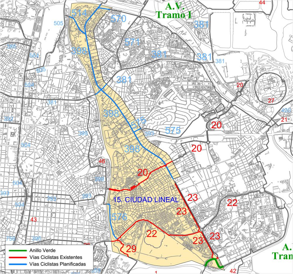 Ciudad Lineal Madrid Mapa.15 Distrito Municipal Ciudad Lineal Ayuntamiento De Madrid