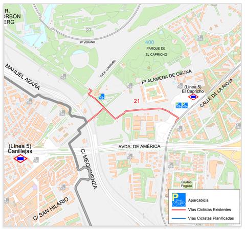 21 v c enlace anillo verde con v a verde de la gasolina - Anillo verde ciclista madrid mapa ...